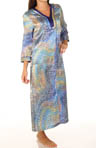 Celestial Nights Printed Charmeuse Long Gown
