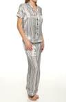 Painterly Stripe Pajama Set
