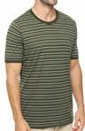 Duffle Bag Stripe Crew Neck T-Shirt