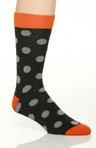 Duffle Bag Polka Dot Crew Sock