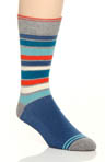 Denim Farm Stripe Crew Sock