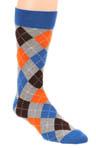 Heather Grey Argyle Crew Sock