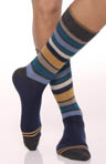 San Francisco Blue Stripe Crew Sock