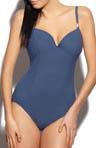 Ava Plunge 1pc Swimsuit with Rhinestones