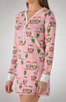 Chilly Owls Velour Thermal Nightshirt