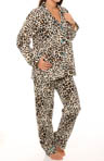 Leopard Flannel PJ Set