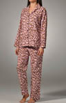 Leopard in Color Flannel PJ Set