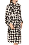 Printed Houndstooth Robe