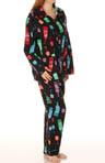 Wine In Color Flannel PJ Set