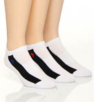 Striped Technical Cotton Ped w Heel Tab - 3 Pack