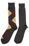 Argyle Cotton Socks - 2 Pack