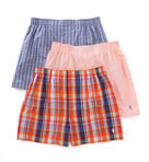 Classic Fit 100% Cotton Woven Boxers - 3 Pack
