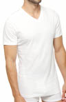 Slim Fit Cotton V-Neck T-Shirts - 3 Pack
