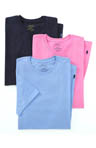 Classic Fit 100% Cotton Crew Shirts - 3 Pack