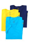 Classic Fit 100% Cotton V-Neck Shirts - 3 Pack