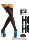 House of Holland Opaque Fringed Thigh Highs