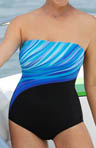 Drifting Seaweed Bandeau 1 Piece Swimsuit