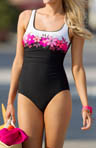 Surf Vibe Square Neck Tank One Piece Swimsuit