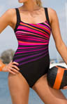 Vanishing Light Square Neck Tank 1 Piece Swimsuit