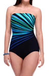 Vanishing Light Bandeau One Piece Swimsuit