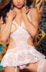 Stretch Lace Open Bust Chemise