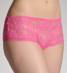 Stretch Lace Open Front Boyshort Panty