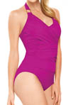 Whittle Waistline Draped Tankini Swim Top