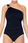 Whittle Waistline One Shoulder One-Piece Swimsuit