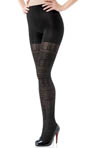 Patterned Tight-End Tights - Multi-Pattern