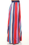 Watercolor Long Vertical Stripe Long Skirt