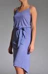 Melange Jersey Lined Belted Dress