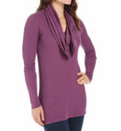 Long Sleeve Thermal Cowl Neck