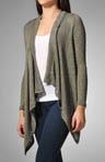 Melange Loose Knit One Button Cardigan
