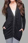 Jersey Colette Long Sleeve Long Cardigan