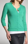 Spring Core Cotton Knit 3/4 Sleeve Cardigan