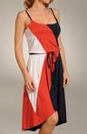 Color Block High-Low Cami Dress