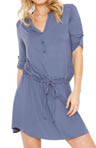 Shirt Dress/Tunic with Roll-Tab Sleeves
