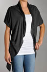 Sheer Short Sleeve Draped Cardigan