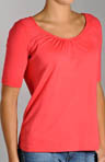 Red Dot Cotton 1/2 Sleeve V-Neck T-shirt