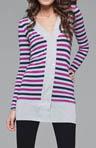 Rayon Multi Stripe DB Cardigan