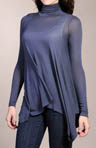 Long Sleeve Hi-Lo Turtleneck Top