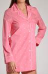 Pink and White Dot Night Shirt
