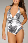 Palms Away Halter Cup 1pc Swimsuit