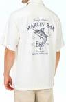 Blue Fin Distillery Silk Crosshatch Camp Shirt