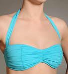Pearl Islands Shirred Front Halter Swim Top