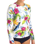 Happy Hibiscus Long Sleeve Rash Guard