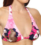 Meridian Halter Cup Tunnel Band Swim Top