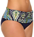 Taj Paisley High Waist Wide Band Swim Bottom