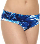 Plumeria High Waist Wide Band Swim Bottom