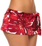 Big Red Hawaii Skirted Hipster Swim Bottom